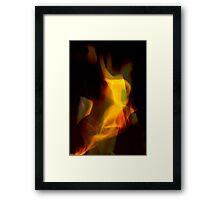 A Flame Framed Print