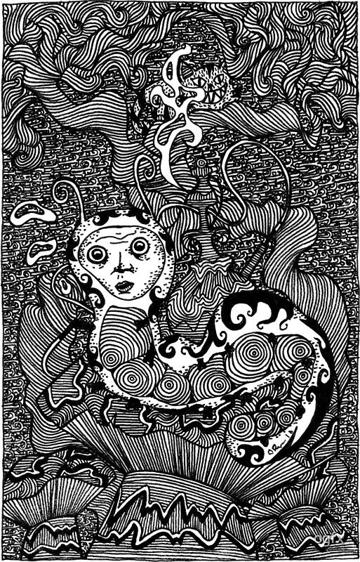 The Hooka Smoking Catterpillar by Octavio Velazquez