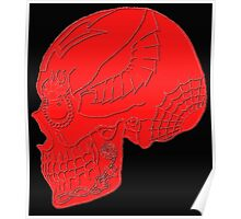 Aviation Ordnanceman - Day of the Dead Embossed in Red Poster