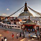 Bodnath Stupa by Peter Hammer