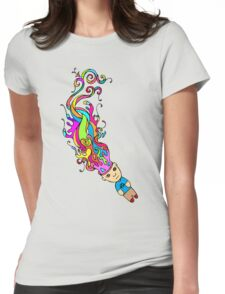 Abstract In My Mind Womens Fitted T-Shirt