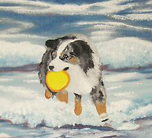 Aussie Calendar Cover - Yippee!! Painting by Barbara Applegate