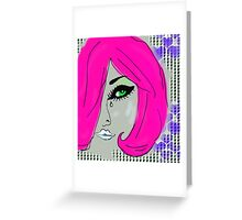 Pink Girl Greeting Card