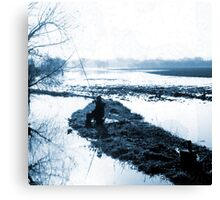 The Determined Angler Canvas Print