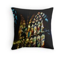 Refelections on the Wall, St. Giles Cathedral Throw Pillow