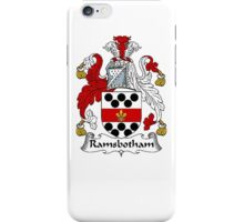 Coat of arms (family crest) for last-name or surname Ramsbotham . Heraldry banner for your name. iPhone Case/Skin