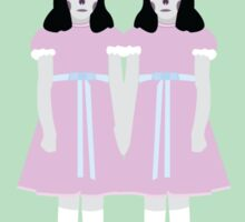 Twins From The Shining - Inverted Colours Sticker