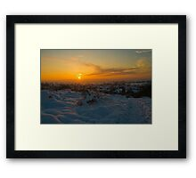 Sunsetting over the Village Framed Print