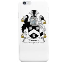 Coat of arms (family crest) for last-name or surname Ramsey . Heraldry banner for your name. iPhone Case/Skin