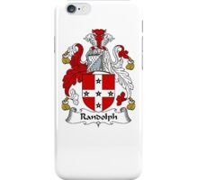 Coat of arms (family crest) for last-name or surname Randolph . Heraldry banner for your name. iPhone Case/Skin