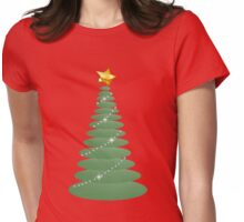 Simple Christmas Tree Womens Fitted T-Shirt