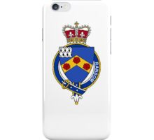 Coat of arms (family crest) for last-name or surname Ransom or Ranson (England) . Heraldry banner for your name. iPhone Case/Skin