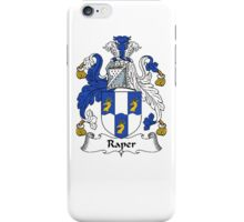 Coat of arms (family crest) for last-name or surname Raper . Heraldry banner for your name. iPhone Case/Skin