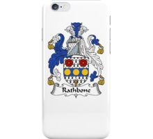 Coat of arms (family crest) for last-name or surname Rathbone . Heraldry banner for your name. iPhone Case/Skin