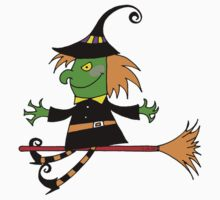 Halloween green witch  Kids Clothes