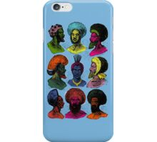 Late 1800s Fijian Hairstyles (Inspired by Andy Warhol) iPhone Case/Skin