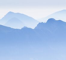 Blue Ridge Mountains of Slovenia by toonartist