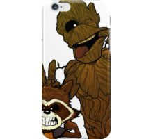 fox and groot iPhone Case/Skin