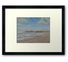 Morning's Haze - One Mile Beach, Forster Framed Print