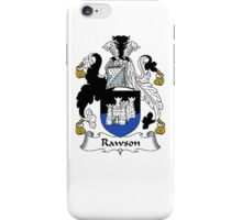 Coat of arms (family crest) for last-name or surname Rawson . Heraldry banner for your name. iPhone Case/Skin