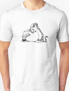 calvin and hobbes white T-Shirt