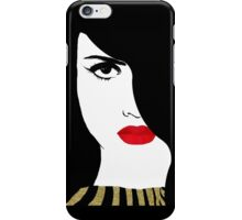 Francesca Fashion art pretty woman gold glitter art iPhone Case/Skin