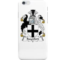 Coat of arms (family crest) for last-name or surname Raynford . Heraldry banner for your name. iPhone Case/Skin
