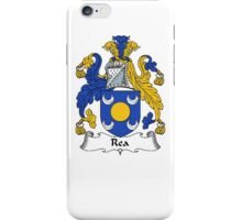 Coat of arms (family crest) for last-name or surname Rea or Ree . Heraldry banner for your name. iPhone Case/Skin