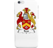 Coat of arms (family crest) for last-name or surname Read II . Heraldry banner for your name. iPhone Case/Skin