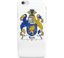 Coat of arms (family crest) for last-name or surname Reade or Reed . Heraldry banner for your name. iPhone Case/Skin