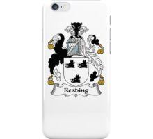 Coat of arms (family crest) for last-name or surname Reading or Reding . Heraldry banner for your name. iPhone Case/Skin
