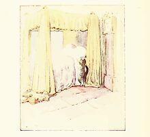 The Tailor of Gloucester Beatrix Potter 1903 0054 Cat Checking Bed by wetdryvac