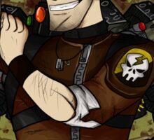 axton the commando Sticker