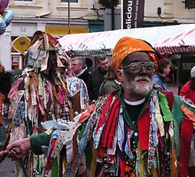 Knaresborough Mummer in Action by Kat Simmons