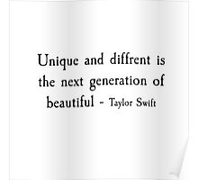Taylor Swift Quotes  Poster
