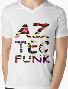 Aztec Funk T-Shirt  Mens V-Neck T-Shirt