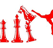 Kickboxing Red Chess Jumping Back Kick  by yin888
