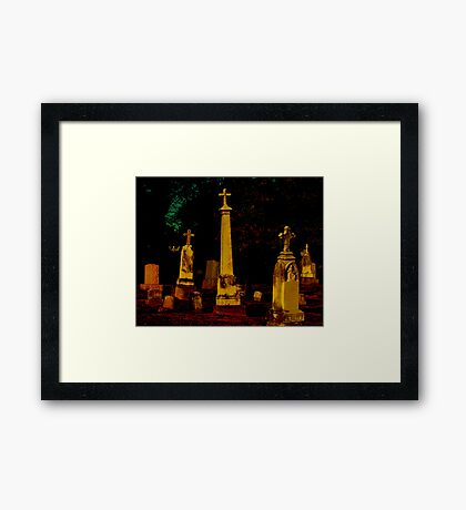 A Cemetary in Kentucky Framed Print