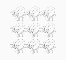 Ticks - black on white Unisex T-Shirt