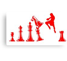 Kickboxing Chess Jumping Knee Red  Canvas Print