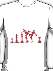 Kickboxing Chess Knee Red T-Shirt