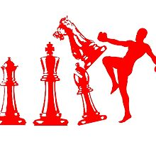 Kickboxing Chess Knee Red by yin888