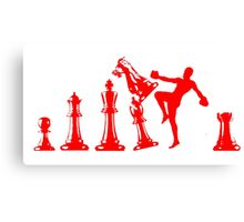 Kickboxing Chess Knee Red Canvas Print