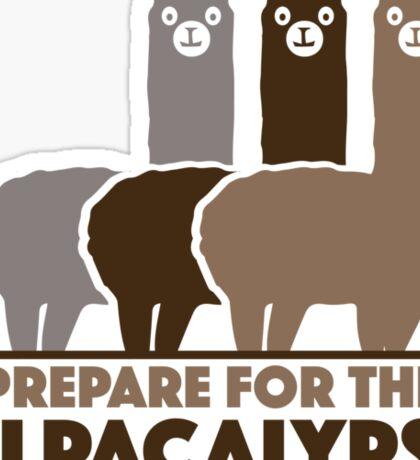 Prepare For The Alpacalypse Sticker