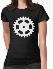 Cog and Roll (white) Womens Fitted T-Shirt