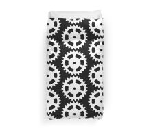 Cog and Roll (white) Duvet Cover
