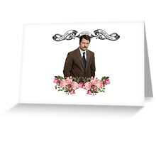 Ron F*****g Swanson Greeting Card