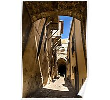 Sharp Shadows Passageway - Old Town Noto, Sicily, Italy Poster