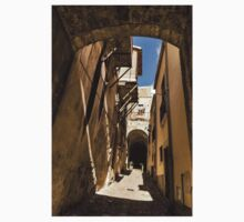 Sharp Shadows Passageway - Old Town Noto, Sicily, Italy Kids Tee