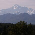 Denali Peak from south viewpoint by yakkphat